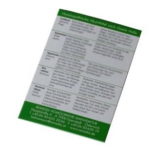 Akutmittel-Visitenkarte