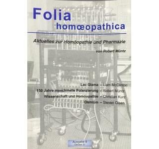 Folia Homöopathica Ausgabe 9