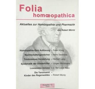 Folia Homöopathica Ausgabe 13