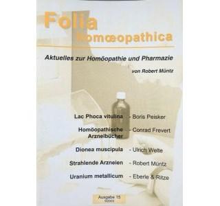 Folia Homöopathica Ausgabe 15