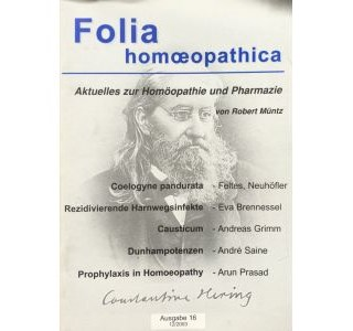 Folia Homöopathica Ausgabe 16