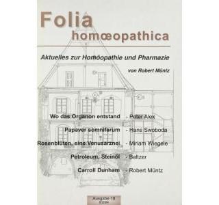 Folia Homöopathica Ausgabe 18