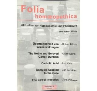 Folia Homöopathica Ausgabe 19