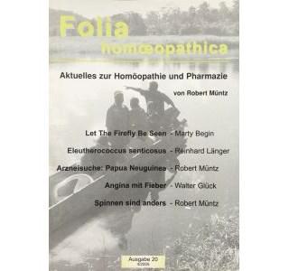 Folia Homöopathica Ausgabe 20