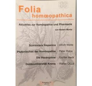 Folia Homöopathica Ausgabe 21