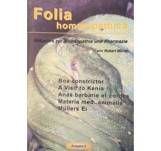 Folia Homöopathica Ausgabe 5