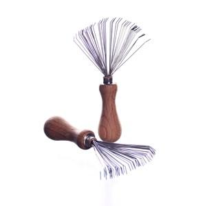 Haarbürsten Reinigungskamm mit Holzgriff